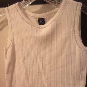 Girls white gap sleeveless top